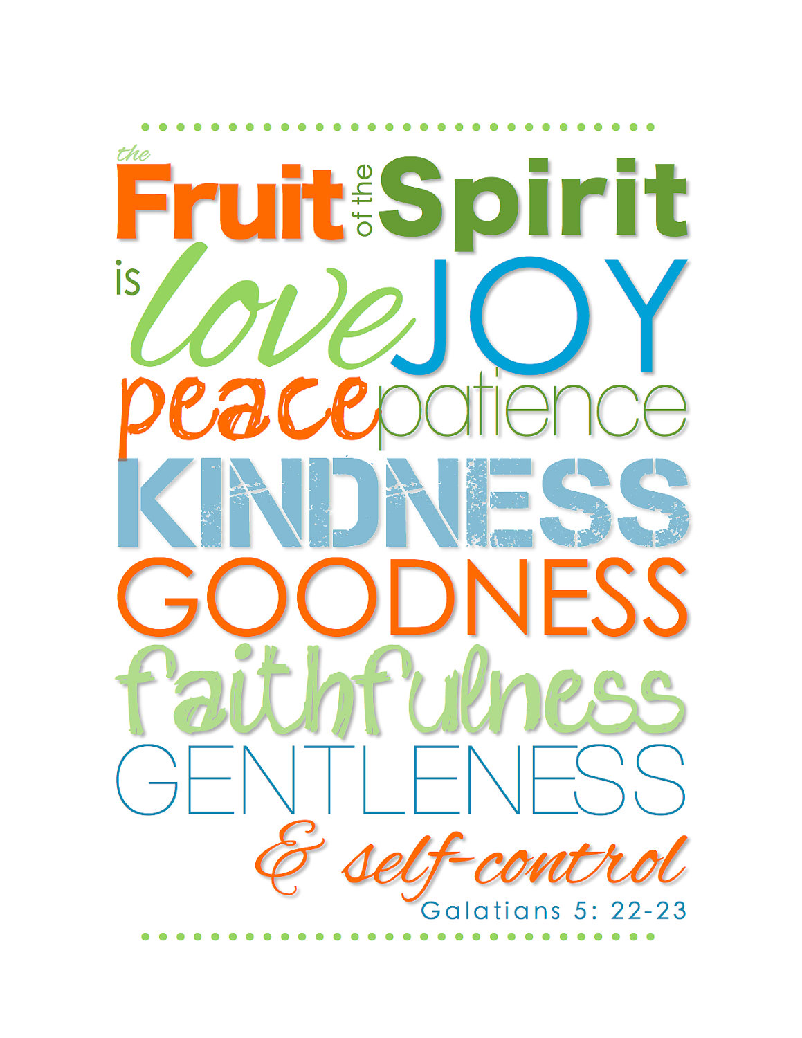 Fruits Of The Spirit Self Control Mrs Kelley School Counselor