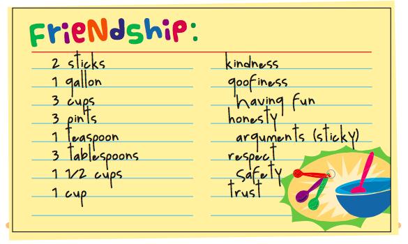 Making Friendship Soup Mrs Kelley School Counselor
